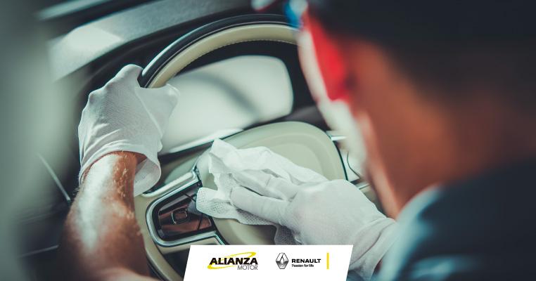 Recomendaciones para limpiar y desinfectar el vehículo en casa