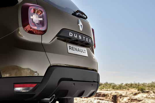 parte trasera Rrenault Duster 2022