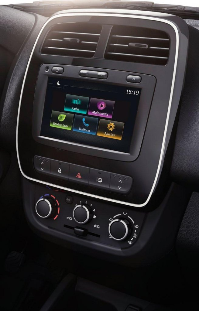 Renault Kwid espacio interior audio