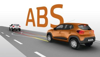 Renault Kwid Sistema de frenos ABS